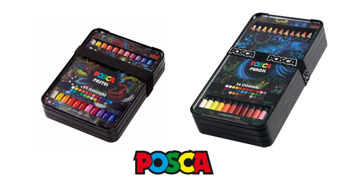 Nou pe Live In Colors: creioane Posca si creioane pastel Posca
