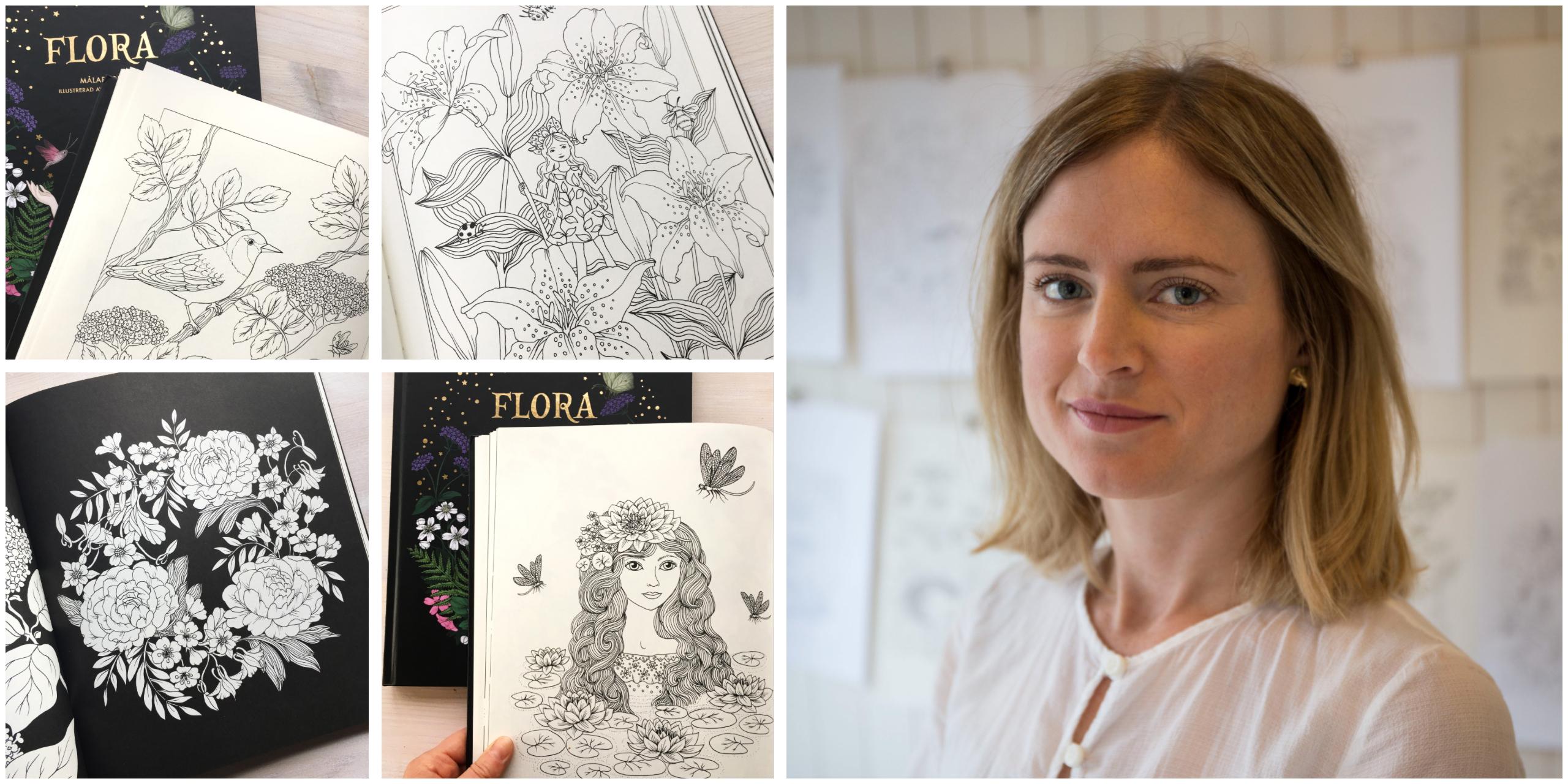 Despre cărți de colorat, despre flori și despre FLORA cu MARIA TROLLE