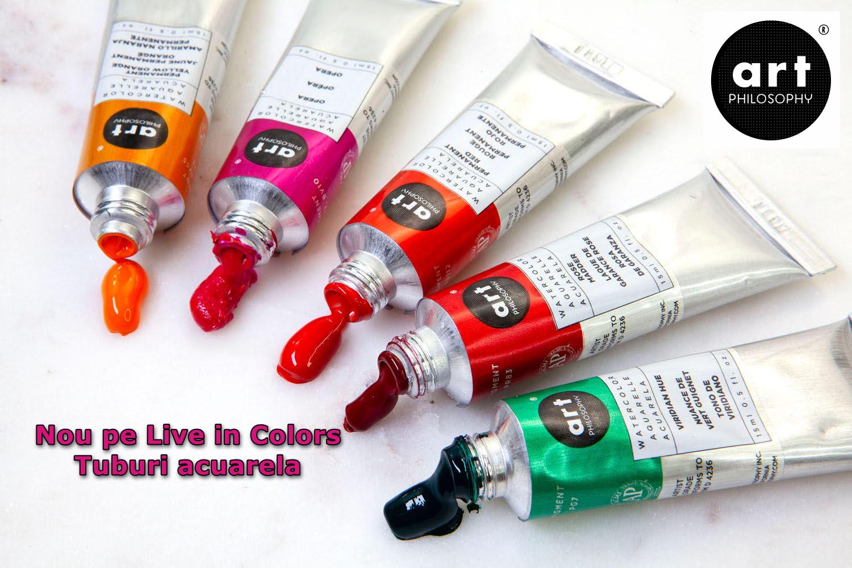 Noutati pe Live In Colors - Tuburi acuarele Art Philosophy