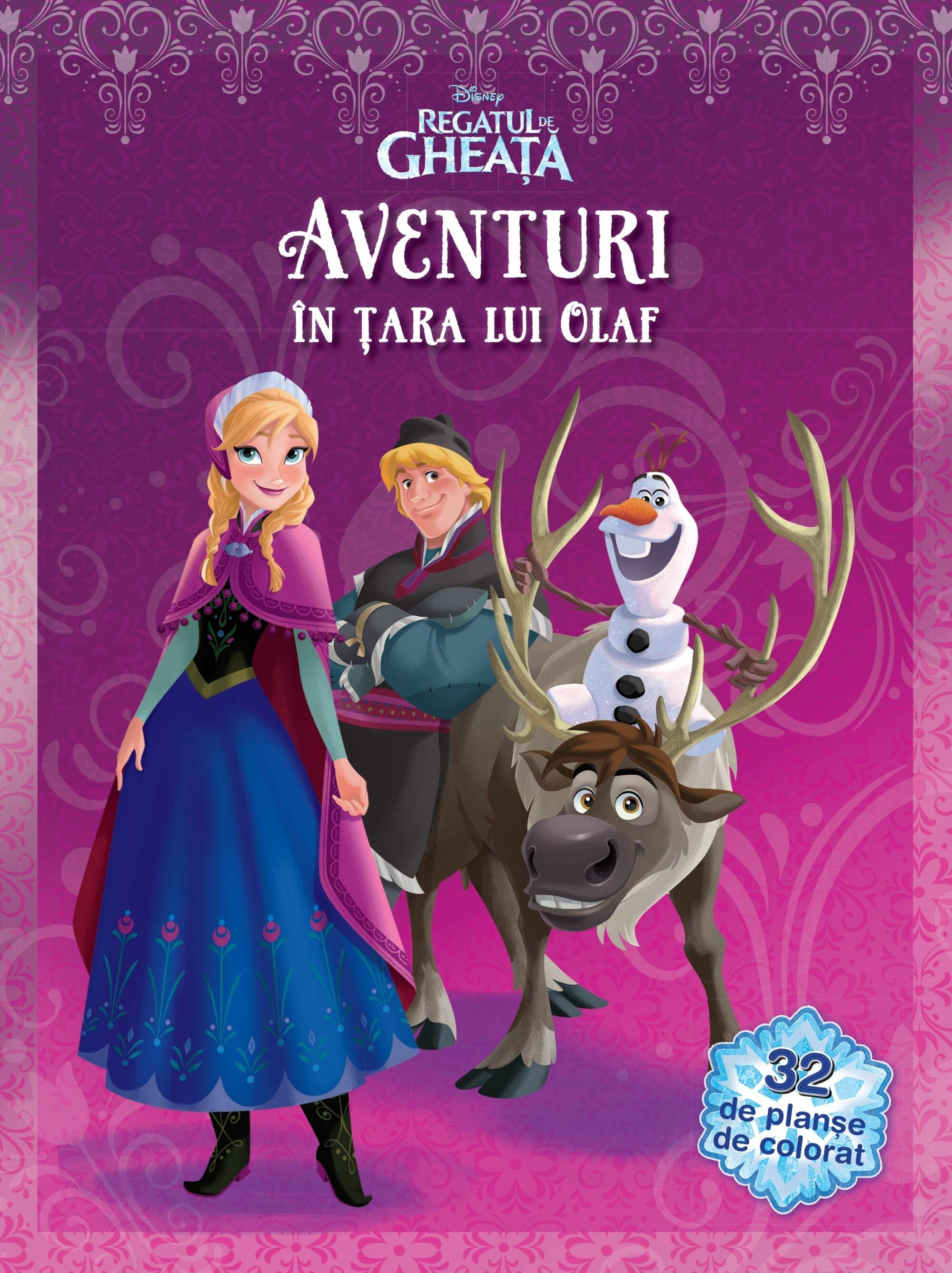 Aventuri In Tara Lui Olaf 32 De Planse De Colorat