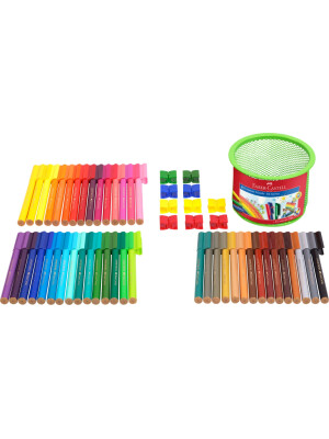 Connector felt tip pen set Mesh tins, 55 pieces