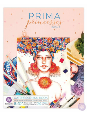 Prima Princesses Watercoloring Book 2