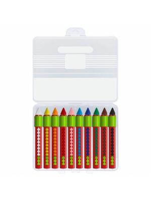 Creioane Cerate Solubile Cu Protectie - 10 Culori