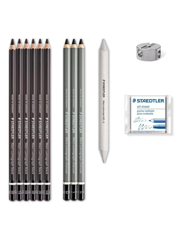 Set creioane carbune Lumograph 100 - Staedtler