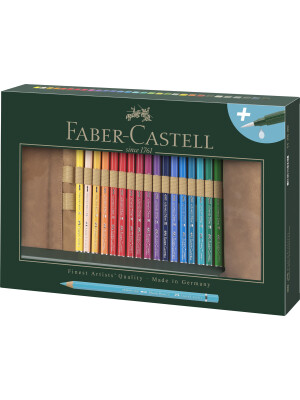 Rollup 30 Creioane Colorate A.Durer si Accesorii Faber-Castell
