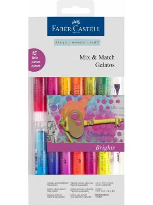Set 12 Pasteluri Solubile Gelatos + 3 Accesorii Culori APRINSE Faber-Castell