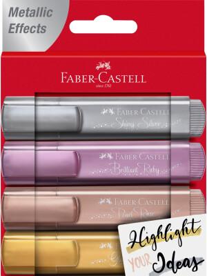 Highlighter TL 46 metallic wallet of 4 Faber-Castell