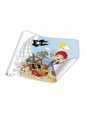 Rulou Planse De Colorat - Pirati