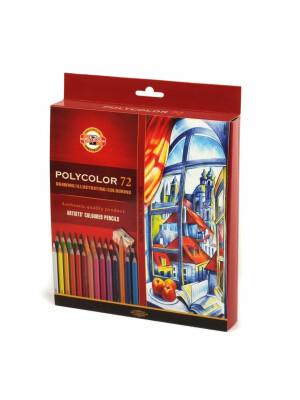 Set creioane Polycolor Koh-I-Noor cu ascutitoare