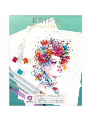 Prima Princesses Watercoloring Book