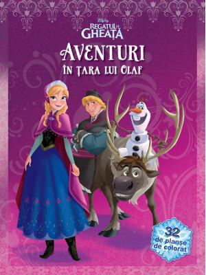Aventuri In Tara Lui Olaf - 32 De Planse De Colorat