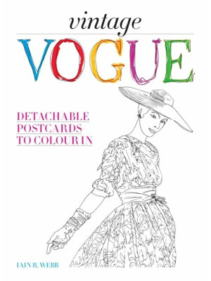 Vintage Vogue - Carti Postale De Colorat
