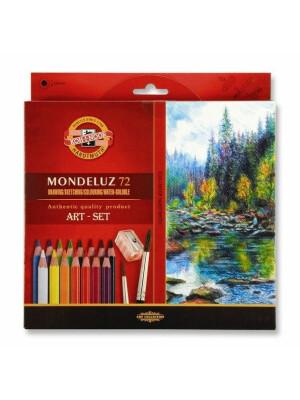 Set creioane color Aquarell MONDELUZ - cu pensula si ascutitoare