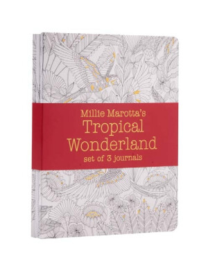 Millie Marotta's Tropical Wonderland - journal set : 3 notebooks