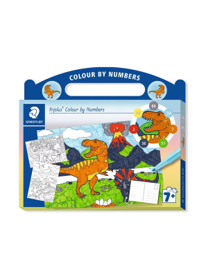 Set triplus® Colour by Numbers - Dinozauri