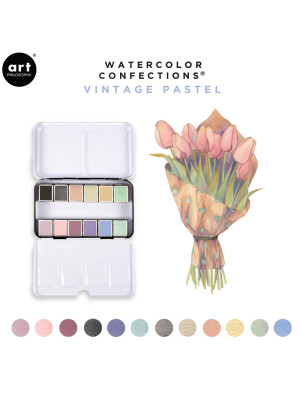 Watercolor Confections - Vintage Pastel