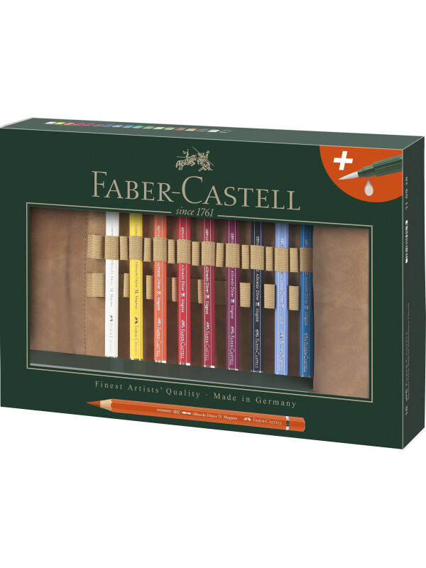 Rollup 18 Creioane Colorate A.Durer Magnus si Accesorii Faber-Castell