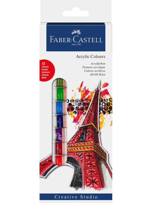Starter set acrylic colours 12ct box