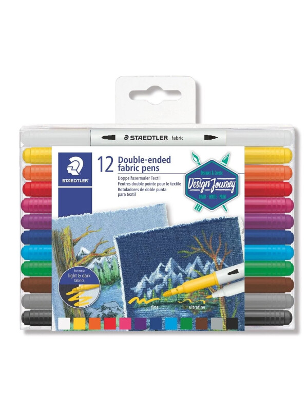 STAEDTLER® 3190 Double-ended fabric pen