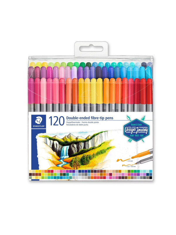 STAEDTLER® 3200 Double-ended fibre-tip pen
