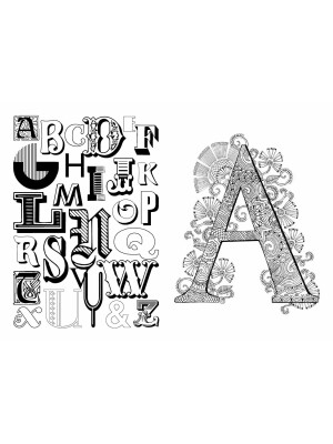 Typography Colouring Book
