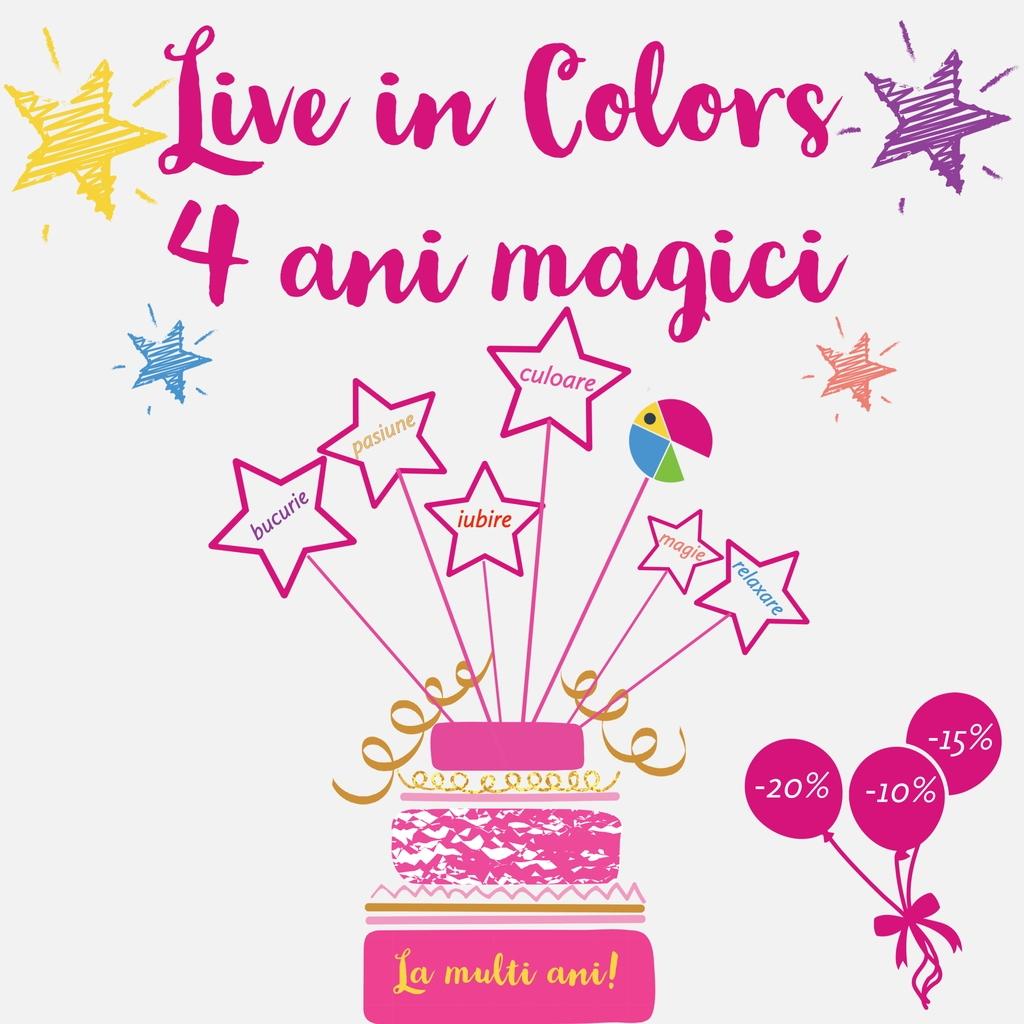 Reduceri Aniversare Live In Colors 4 ani
